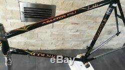 Colnago Master Piu THE ORO black gold steel frameset frame fork 55 56 VGC