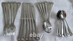DISNEY Parks Stainless Steel Cutlery Set 24 Pieces Walt Disney World ViNtAGe