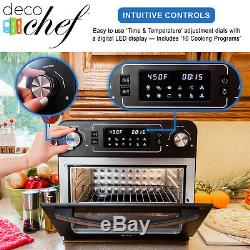Deco Chef 24QT Air Fryer Countertop Toaster Oven Rotisserie Rack Included