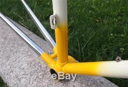 EXC 1980s SELECT Vienna Pinarello made Columbus Steel Road Bike Frame Fork 52cm