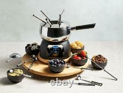Electric Stainless Steel Chocolate Melting Melter Fondue Set Pot 22-Piece Forks