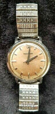 Extremely Rare 1964 BULOVA ACCUTRON Tuning Fork SPIEDEL BAND