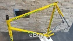Fausto COPPI Campionissimo Columbus steel frameset frame fork 58 57 cm USED