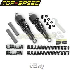 Fork Spring Shock Absorbers Lowering Kit For Harley Sportster XL 1200 Iron 883
