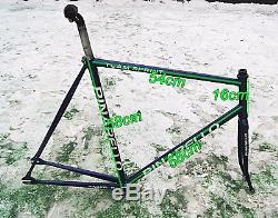 Frame fork Samoylov Fausto Coppi steel track fixed gear velodrome size58 vintage