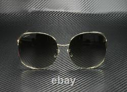 GUCCI GG0225S 002 Fork Gold Brown 63 mm Women's Sunglasses