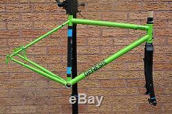 Genesis Equilibrium Disc Frameset, 725 Frame / Carbon Fork Flash Green 50cm