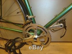 Gents road bike lugged steel frame and forks 60 cm used