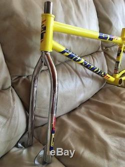 Gt Bmx Day Glow Yellow Jr Pro Series Frame & Fork