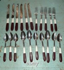 HUGE Vintage Lot Bakelite Flatware Spoons Forks Knives Serving Kitchen 275+ PCS