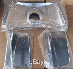 Harley Panhead Front Fork Hydra Glide Fork Covers 3 Piece Steel Fork Covers (Q7)