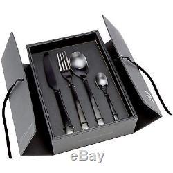 Hune Matt Black Cutlery Set Stainless Steel Table Knives Forks Spoons 16 Piece