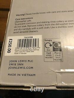 John lewis & Partners Ellipse Cutlery Set (44 Piece) New In Box