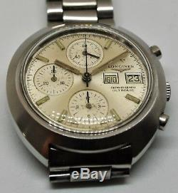 Longines Ultronic Chronograph day date tuning fork cal 6312 Gents watch
