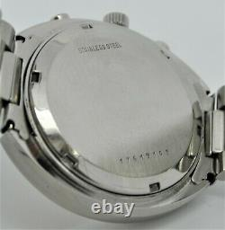 Longines Ultronic chronograph tuning fork stainless steel gents watch