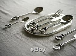 Loop / Knot / Rope Hand Forged Stainless High Quality Cutlery 19 pieces RRP £266