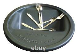 Magnetic Cutlery Saver Black Round Bin's Lid Spoon Fork Saver Restaurant