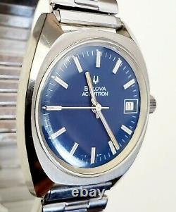Men's Vintage Circa 70's Watch ACCUTRON BULOVA Tuning Fork 7303-2. Cal. 2181