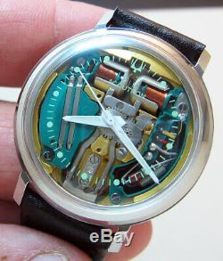 Mint Serviced 214 Accutron Spaceview Stainless Steel Tuning Fork Men's Watch N0