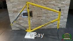 Miodini Columbus EL light silver fillet brazed steel frame fork frameset 60 57