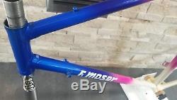 Moser Technology profiled steel 51.151 frameset 54 55 cm frame fork Gilco Leader