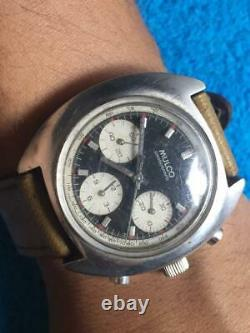 Mulco chronograph valjoux 726 evil nina panda dial. Need service and palet fork
