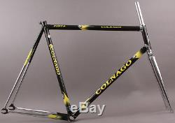 NEW 2008 Colnago Master Pista Track Bike Black/Yellow Frame Fork 008G 60cm