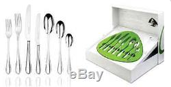 New Studio William 56 Piece Cutlery Complet Set Stainless Steel Knife Fork Spoon