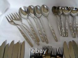 NORITAKE 18-8 Stainless Steel Cutlery Set 8 Persons LA SEINE 102 Pieces Japan