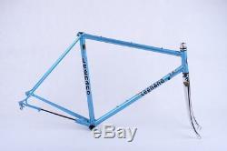 NOS Blue Legnano Gran Premio frame and fork, 54 c-c