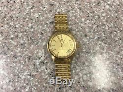 NOS CLASSIC 1970s YG ZENITH MOVADO SURF TUNING FORK WRISTWATCH