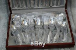 New Viners Harley Elegance 50 Piece Cutlery Canteen Set for 6 Person Wooden Box