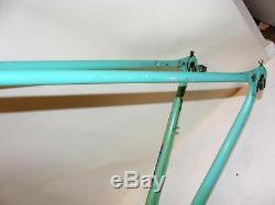 Nice Vintage Lugged Steel BIANCHI Columbus Cromor 56cm Frame & Fork