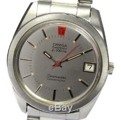 OMEGA Seamaster electronic Date Silver Dial tuning fork Men's Watch 530149