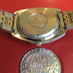Omega Constellation f300Hz Tuning Fork 1970s Rare Vintage Date 2-tone Mens Watch