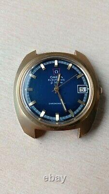 Omega F300hz 198.030 tuning fork watch, Gold Plated, Box & Papers, GWO, UK sale