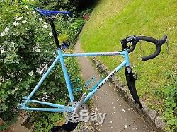 On One El Pompino Large Baby Blue. Frameset with carbon forks & extras. Fixed