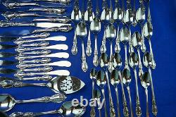Oneida Louisiana Community Stainless (93) Pieces-Forks, Knives, Spoons, Serving