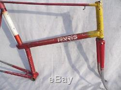 RARE 1940s/50s PARIS GALIBIER FRAME WITH TWO SPARE FORKS AND HEADBADGE