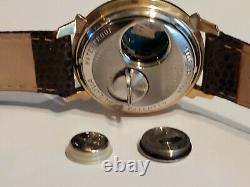 RARE Bulova Accutron Spaceview Watch. Model 214 10 GF TUNING FORK LIZARD BAND