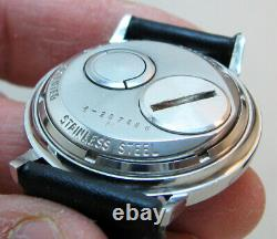 RARE SERVICED 214H ACCUTRON BULOVA STAINLESS STEEL TUNING FORK MEN's WATCH M4