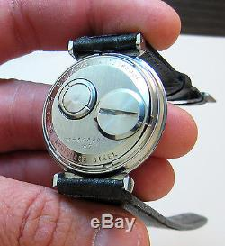 Rare Serviced 214 Accutron Spaceview Stainless Steel Tuning Fork Men's Watch M7
