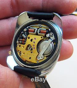 Rare Serviced 2182 Accutron Stainless Steel Tuning Fork Men's Watch N5