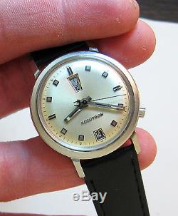Rare Serviced Vintage 218 Accutron Stainless Steel Tuning Fork Mens Watch M