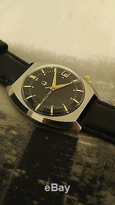 Rare Serviced Vintage Accutron 218 Stainless Steel Tuning Fork Mens Watch N5