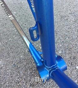ROSSIN RECORD 62cm FRAME SET (Frame/Fork) COLUMBUS SL VINTAGE 80'S ROAD BICYCLE