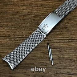 Rare Accutron Stainless Steel Mesh 17.25mm Tuning Fork nos Vintage Watch Band