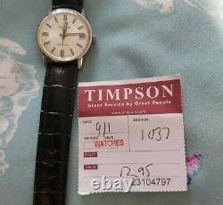 Rare Eterna Sonic, Tuning Fork watch New Battery Tissot Leather Strap