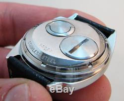Rare Serviced 214 Accutron Spaceview Stainless Steel Tuning Fork Men's Watch M6