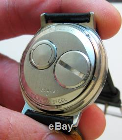 Rare Serviced 214 Accutron Stainless Steel Tuning Fork Men's Watch N0
